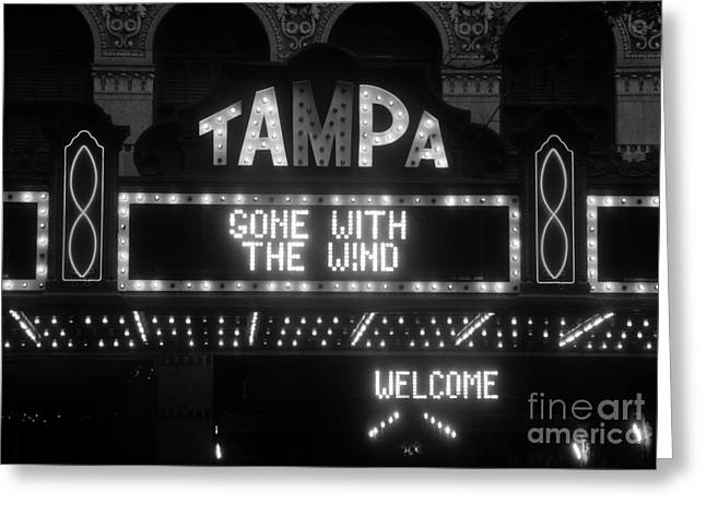 1939 Movies Greeting Cards - Tampa Theatre 1939 Greeting Card by David Lee Thompson