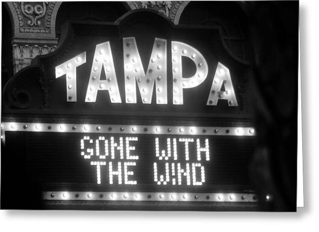 1939 Movies Greeting Cards - Tampa Theatre Gone with the wind Greeting Card by David Lee Thompson