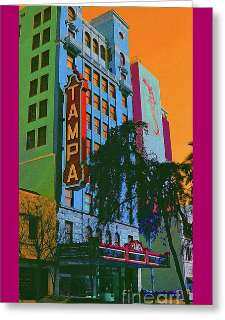 Historic Downtown Franklin Greeting Cards - Tampa Theatre Greeting Card by Jost Houk