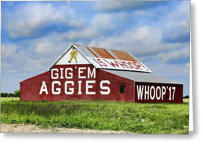 Texas A Greeting Cards - TAMU Aggie Barn Greeting Card by Stephen Stookey