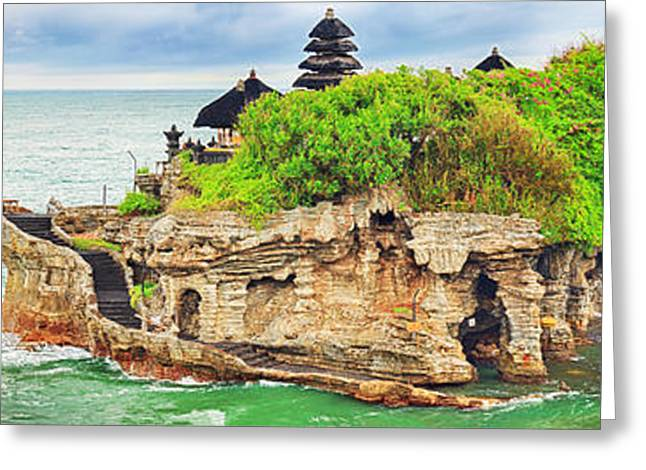 Offshore Rocks Greeting Cards - Tanah Lot Greeting Card by MotHaiBaPhoto Prints