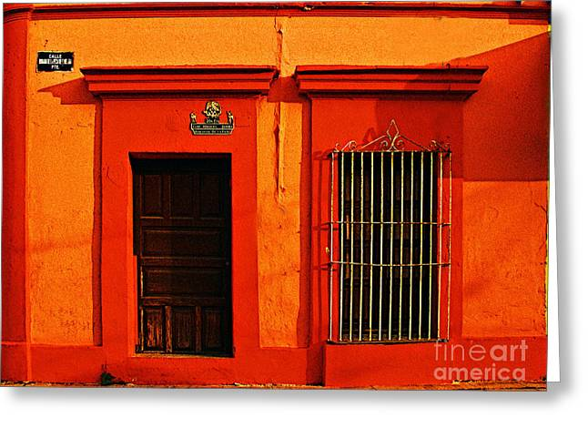 Michael Photographs Greeting Cards - Tangerine Casa by Michael Fitzpatrick Greeting Card by Olden Mexico