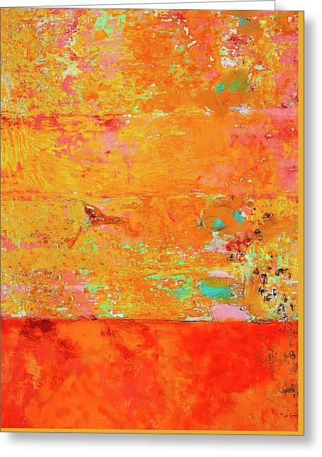 Tangerine Dream Greeting Card by Skip Hunt