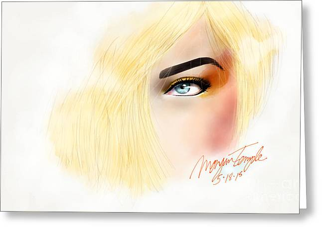 Eyebrow Greeting Cards - Tangerine Makeup  Greeting Card by Morgan Temple