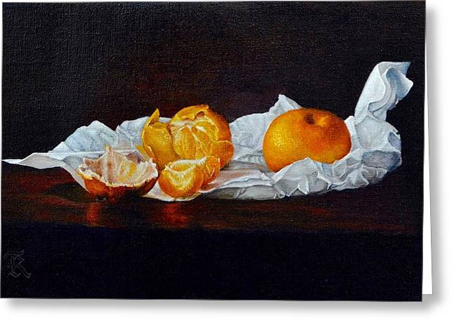 Tangerines Greeting Cards - Tangerines Greeting Card by Ralph Taeger