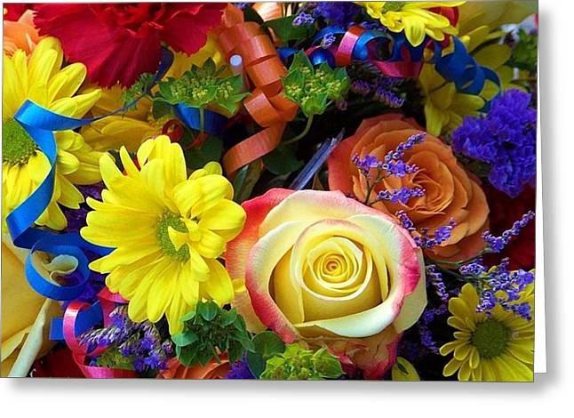 Flower Arraignment Greeting Cards - Tangible Love Greeting Card by Pattie Frost