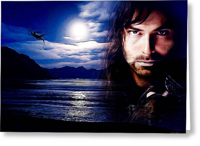 Kili And The Lonely Mountain Greeting Card by Kathy Kelly
