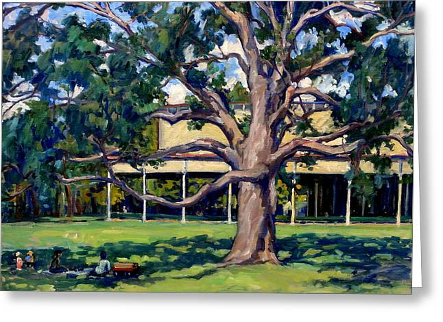 Shed Paintings Greeting Cards - Tanglewood Before the Concert Greeting Card by Thor Wickstrom