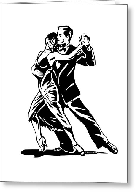 Machismo Greeting Cards - Tango al reves Greeting Card by Brian Dahlen