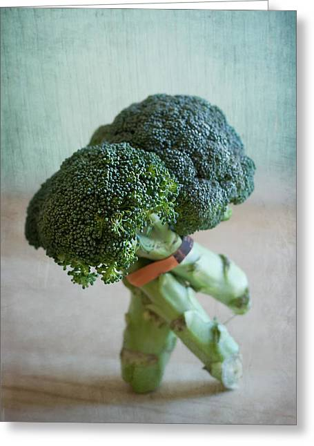 Broccoli Greeting Cards - Tango Dip Greeting Card by Maggie Terlecki