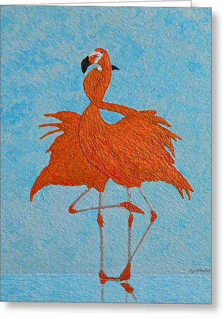 Impressionism Reliefs Greeting Cards - Tango Greeting Card by Liza Wheeler