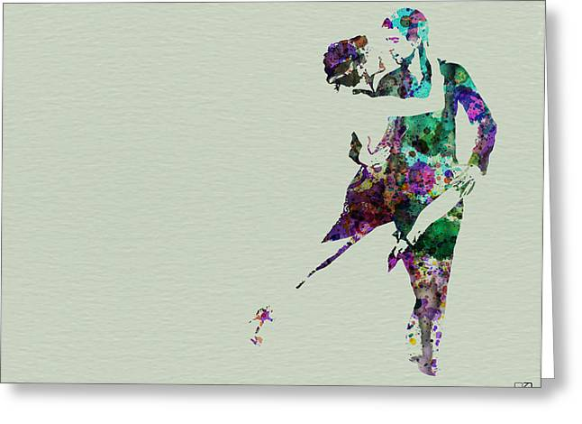 Dating Paintings Greeting Cards - Tango Greeting Card by Naxart Studio
