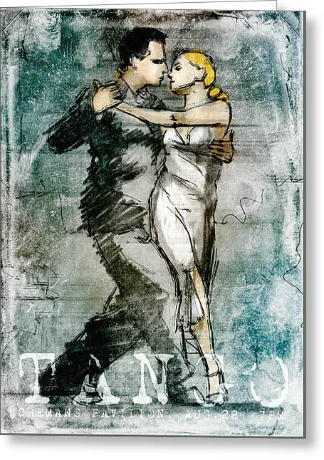 Dancer Art Greeting Cards - Tango Poster Greeting Card by H James Hoff