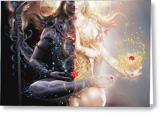 Tantric Marriage Greeting Card by George Atherton