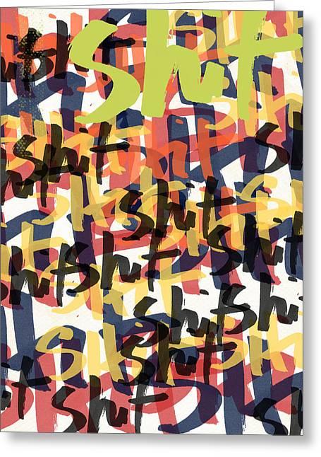 Tantrum- Art By Linda Woods Greeting Card by Linda Woods