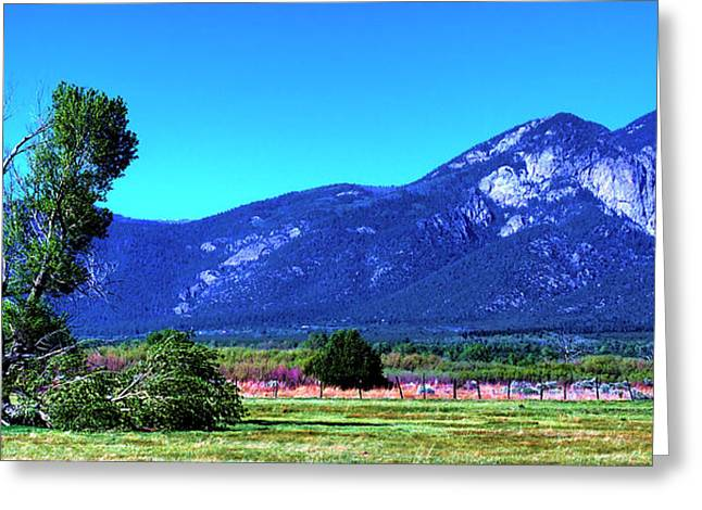 Taos Greeting Cards - Taos Mountains Greeting Card by David Patterson
