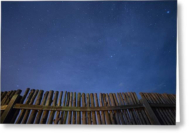 Taos Greeting Cards - Taos Night Greeting Card by Noah Bryant