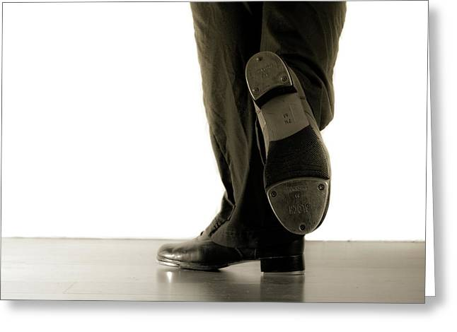 Tap Dancers Greeting Cards - Tap foot Greeting Card by Scott Sawyer