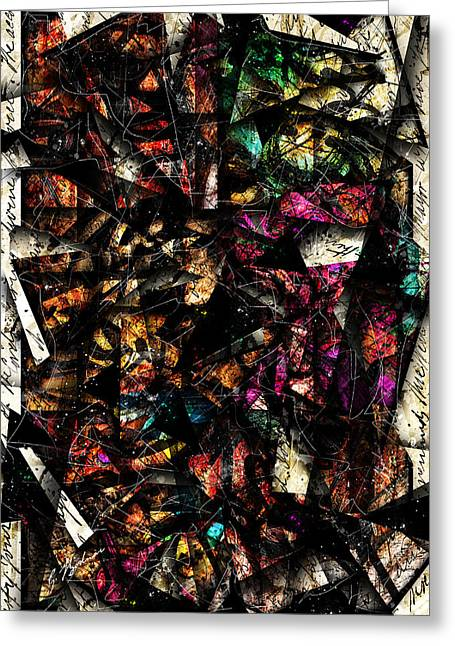 Christian Abstract Art Greeting Cards - Tapestry  Greeting Card by Gary Bodnar