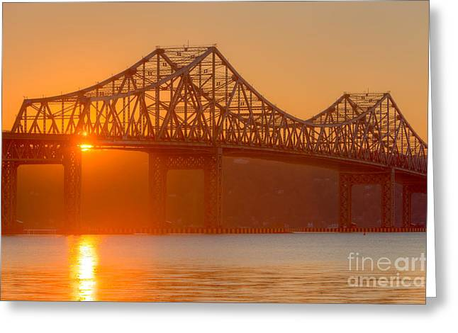 Westchester County Greeting Cards - Tappan Zee Bridge at Sunset I Greeting Card by Clarence Holmes