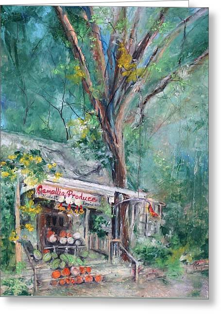 Tara And Jack's Slidell Produce Greeting Card by Robin Miller-Bookhout