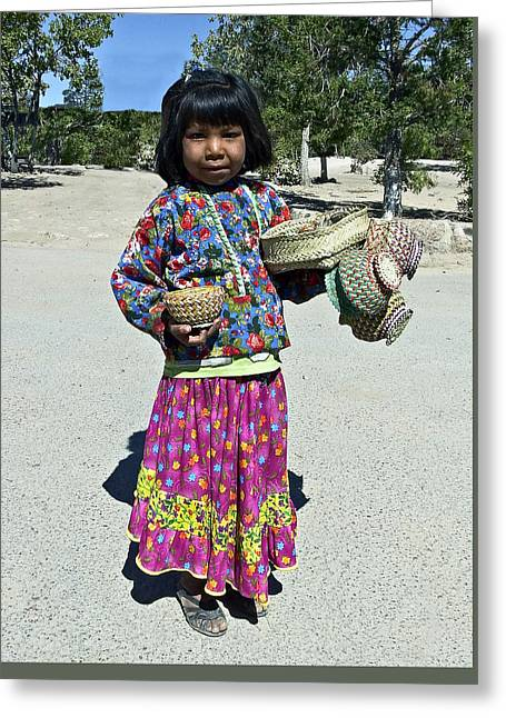 Madre Greeting Cards - Tarahumara Girl Greeting Card by Kurt Van Wagner