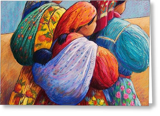 Tarahumara Women Greeting Card by Candy Mayer