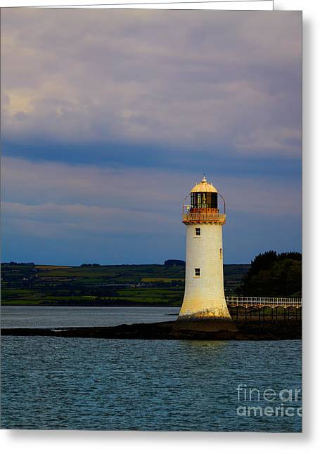 Shannon Greeting Cards - Tarbert Lighthouse Greeting Card by Gabriela Insuratelu