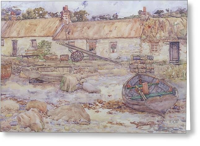 Tarbert   Loch Fyne Greeting Card by Alexander Kellock Brown