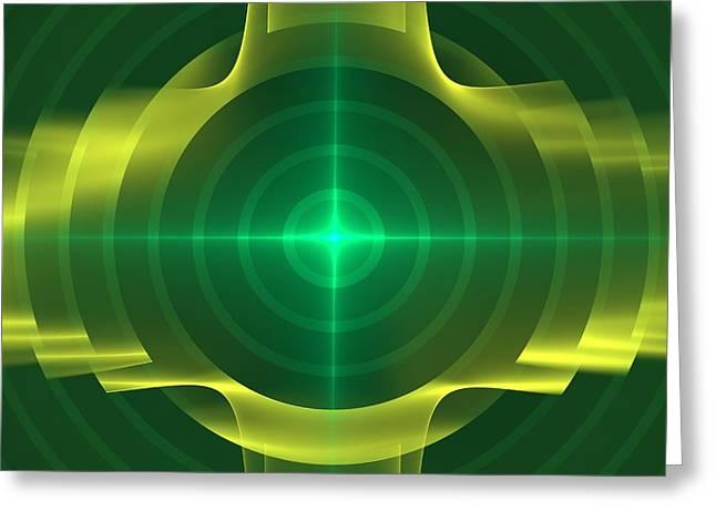 Geometric Effect Greeting Cards - Target Greeting Card by Svetlana Nikolova