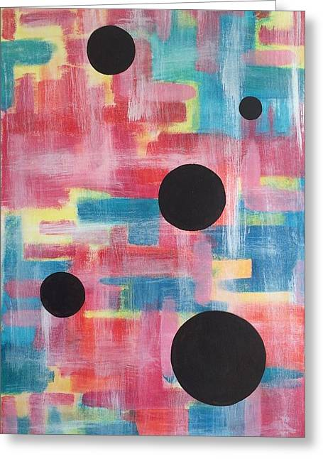 Splashy Paintings Greeting Cards - Targeting Colorland Greeting Card by Eve Schambach