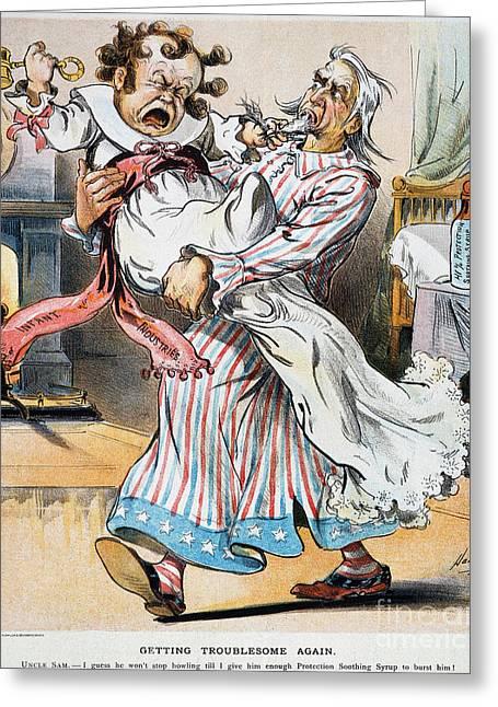 Dalrymple Greeting Cards - Tariff Cartoon, 1896 Greeting Card by Granger