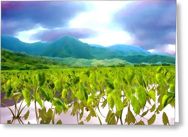 Paradise Greeting Cards - Taro Kauai Hawaii Greeting Card by Kurt Van Wagner