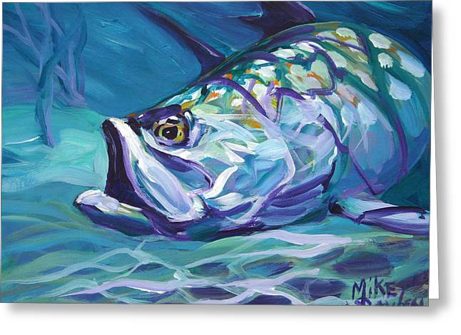 Tarpon Greeting Card by Savlen Art
