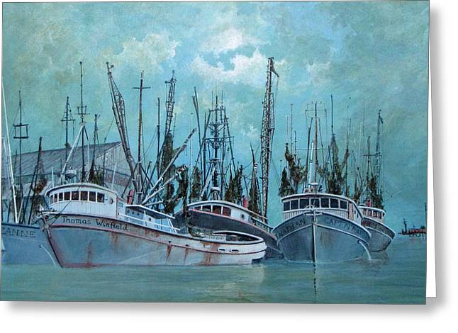 Jim Hubbard Greeting Cards - Tarpon Springs Greeting Card by Jim Hubbard