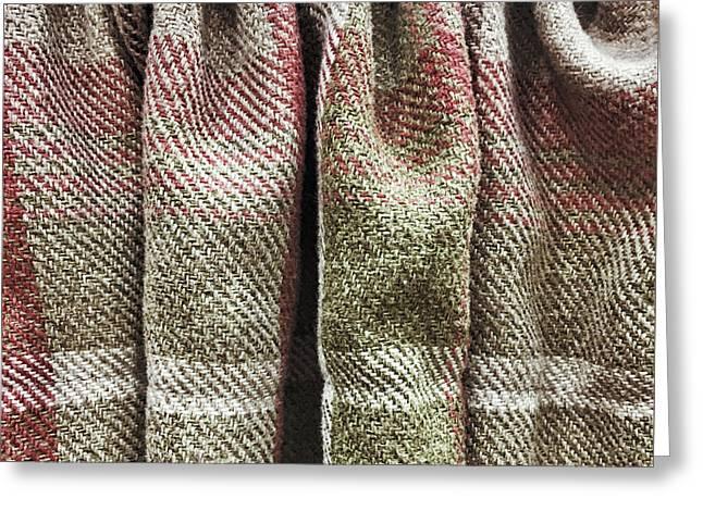 Tartan Curtain Greeting Card by Tom Gowanlock