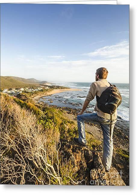 Tasmania Bushwalking Tourist Greeting Card by Jorgo Photography - Wall Art Gallery