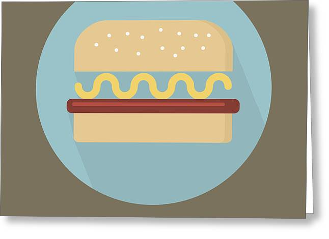 Tasty Tasty Burger Poster Print - Food Art Greeting Card by Beautify My Walls