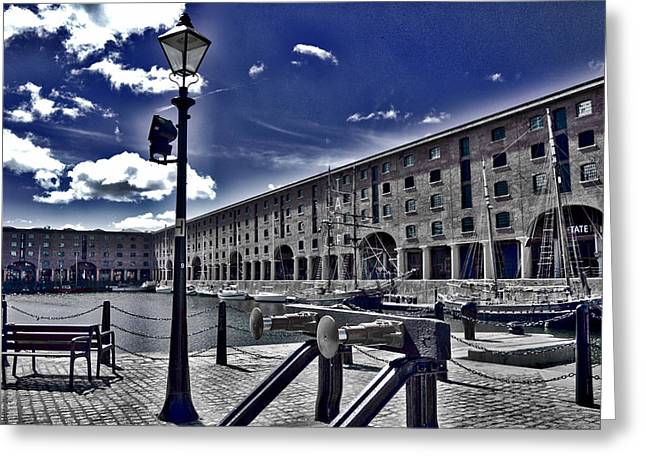 Tate At Liverpool's Albert Dock Greeting Card by Colin Perkins