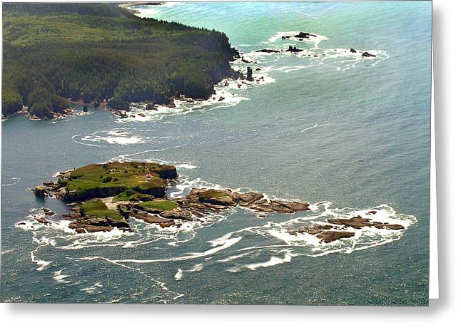 Cape Flattery Greeting Cards - Tatoosh Island Greeting Card by Wilbur Young