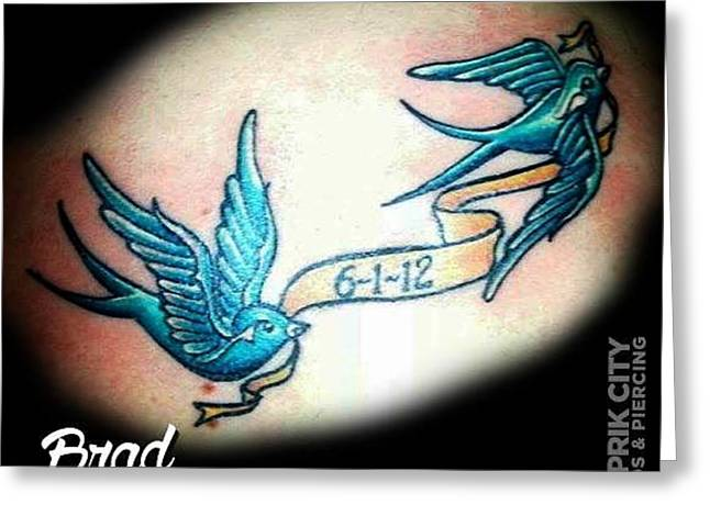 Fayetteville Drawings Greeting Cards - Tattoo studio in fayetteville NC  Skin Prik city Greeting Card by Skin Prik City