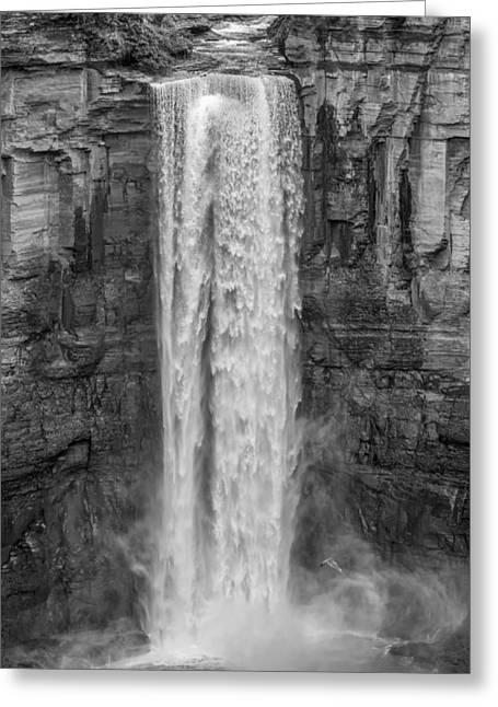 Taughannock Falls 3 Bw Greeting Card by Steve Harrington