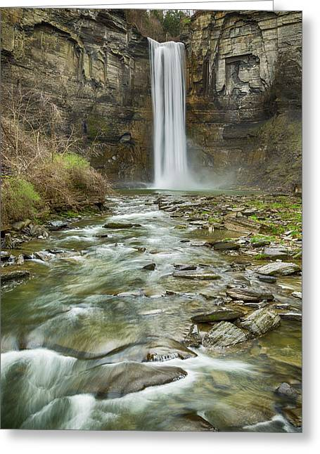 Taughannock Falls After The Thaw Greeting Card by Stephen Stookey