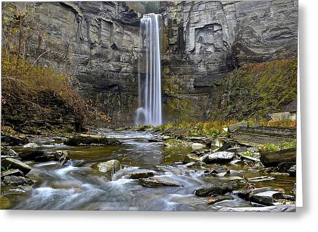 Taughannock Falls New York Greeting Card by Frozen in Time Fine Art Photography