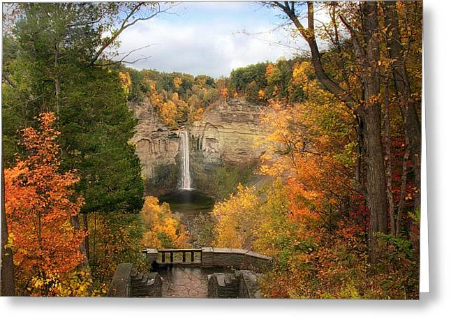 Ithaca Greeting Cards - Taughannock Falls Splendor Greeting Card by Jessica Jenney