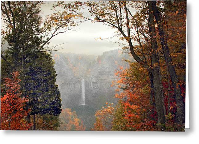 Ithaca Greeting Cards - Taughannock in the Mist Greeting Card by Jessica Jenney