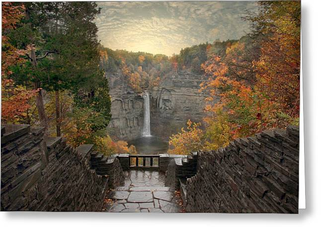 Taughannock Lights Greeting Card by Jessica Jenney
