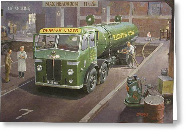 Lorries Greeting Cards - Taunton cider Octopus. Greeting Card by Mike  Jeffries