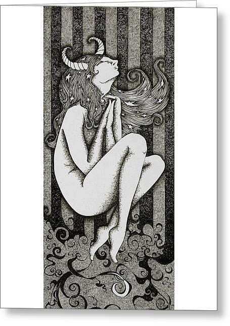 Taurus Greeting Card by Zelde Grimm