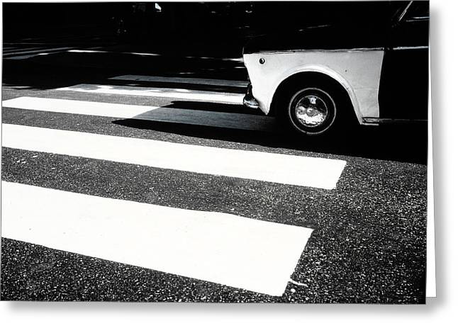 Crosswalk Greeting Cards - Taxi in cairo Greeting Card by Vincent Leprince